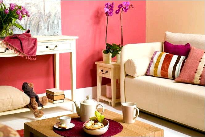 10 Идей для гостиной.красное обустройство гостиной фото