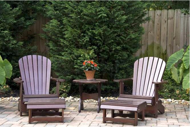 Красивое расположение садовой мебели — посмотреть идеи