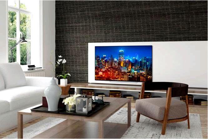 Обустройство стены телевизором 20 идей