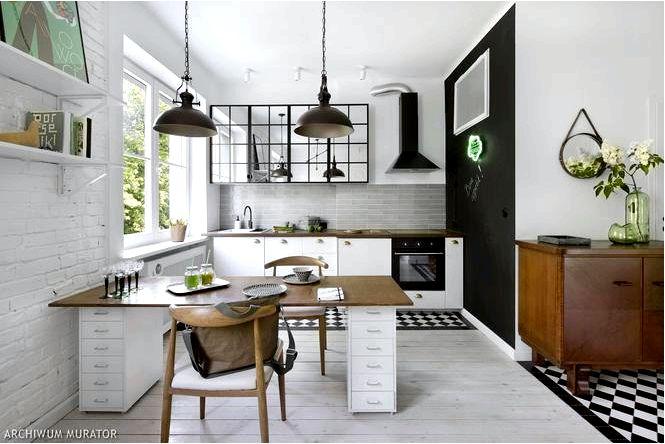 Обустройство однокомнатной квартиры в винтажном стиле