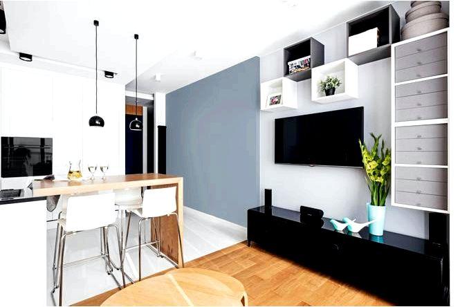 Обустройство маленькой квартиры с возможностью небольших пространств