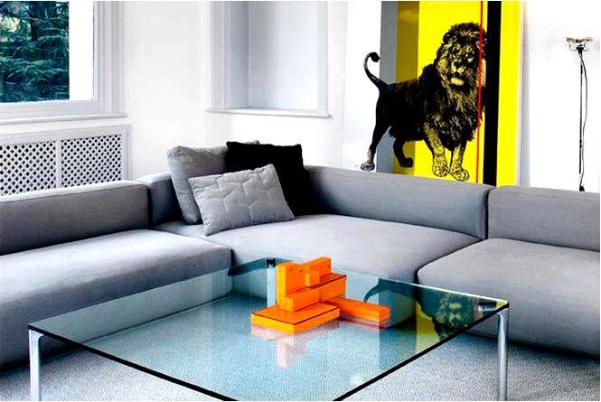 Обустройство гостиной модульные диваны