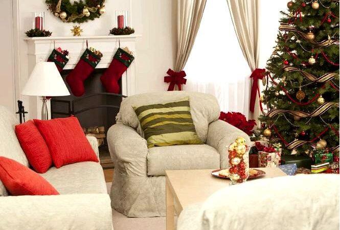 Обустройство гостиной к рождеству