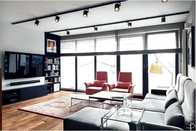 Дизайн интерьера квартиры в современном стиле, то есть в столичном мужском шике!
