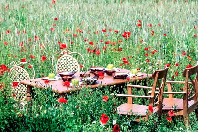 Расстановки столиков в саду