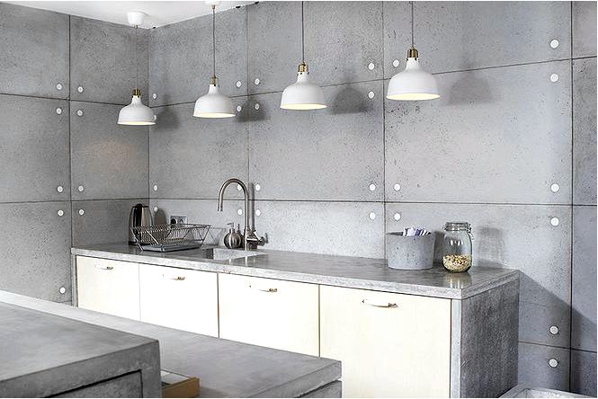 Архитектурные бетонные стены и бетонная мебель morgan; мёллер