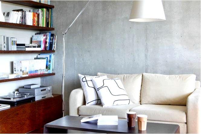 Декоративная бетонная стена 10 идей для бетонной стены в гостиной