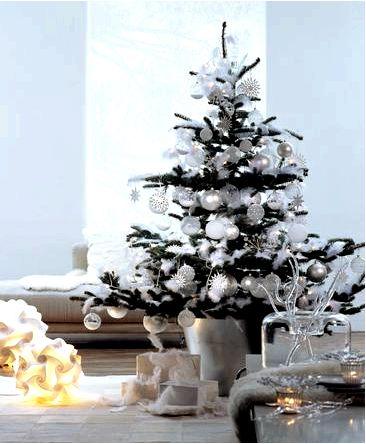 Белая новогодняя елка или новогодняя елка в белом идеи и вдохновение