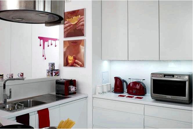 Белая кухня с глянцевым покрытием 13 модных дизайнов кухонь