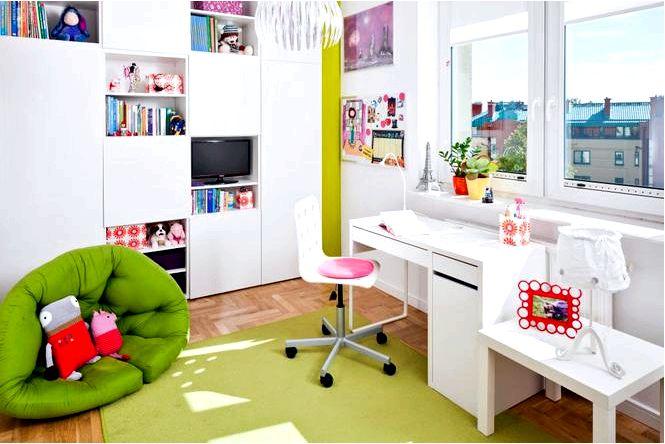 Белый стол для девочки — устраиваем учебный уголок для девочки