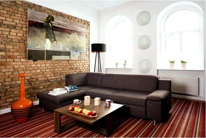 Искусство кирпичной стены для гостиной идеи кирпичной стены для гостиной