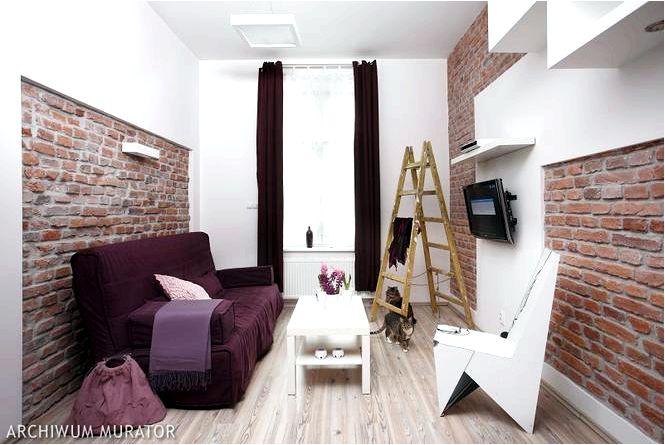 Кирпич на стену, дизайн интерьера квартиры и сырой кирпич