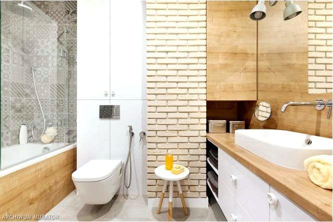 Ванная комната из кирпича в различных стилях рустикального, индустриального и современного