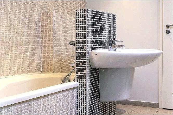 Интересное оформление ванной mozaika в bathroom