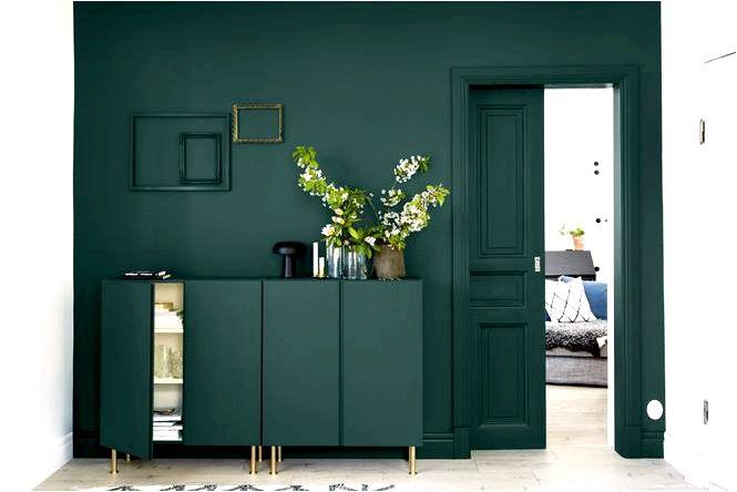 Темно-зеленый — цветовой хит в интерьере