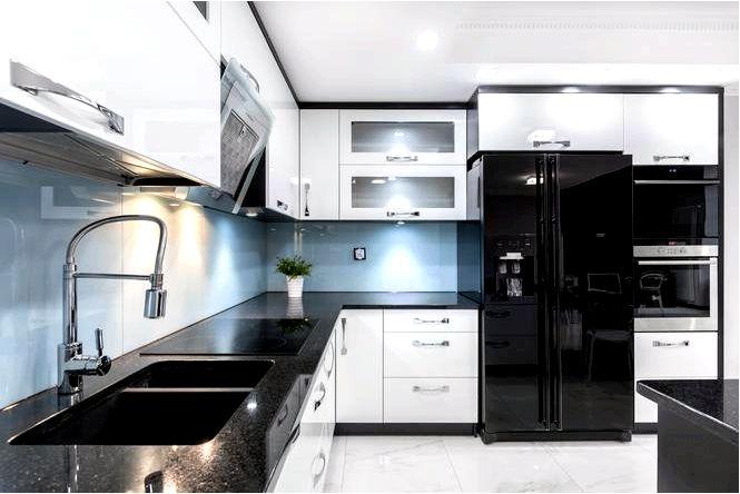 Черная кухонная столешница — достоинства и недостатки