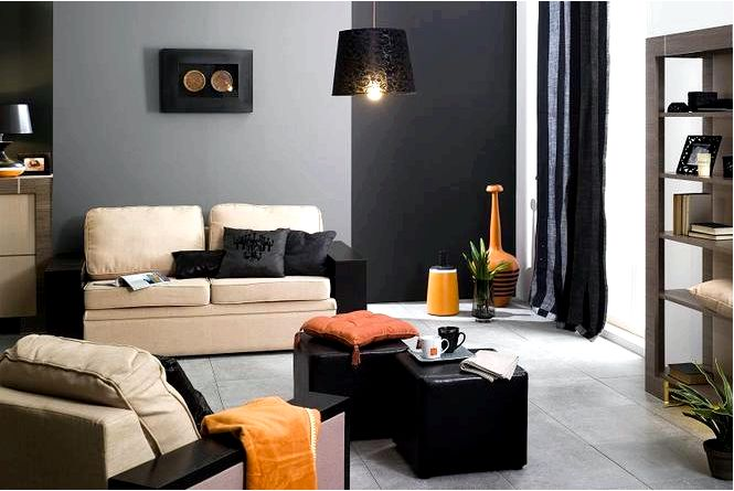 Черный цвет стен в современной квартире