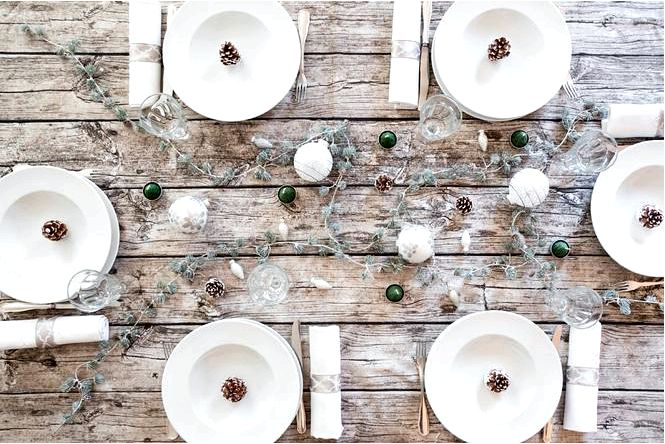 Украшение стола на рождество — множество идей!