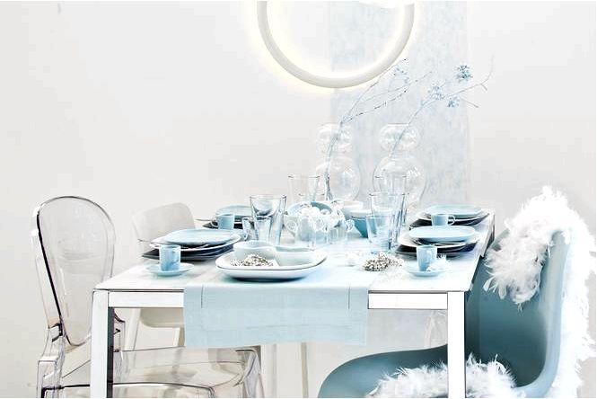 Украшение праздничного стола минималистичная сервировка стола на рождество