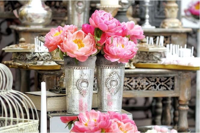 Свадебные украшения в гламурном стиле