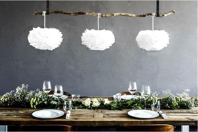 Декоративные аксессуары из перьев в скандинавском стиле