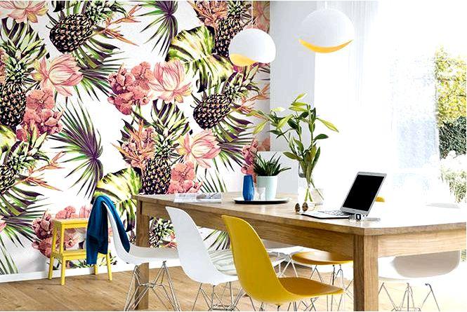 Летний домик — цветы размера xxl или растительные узоры измененного размера