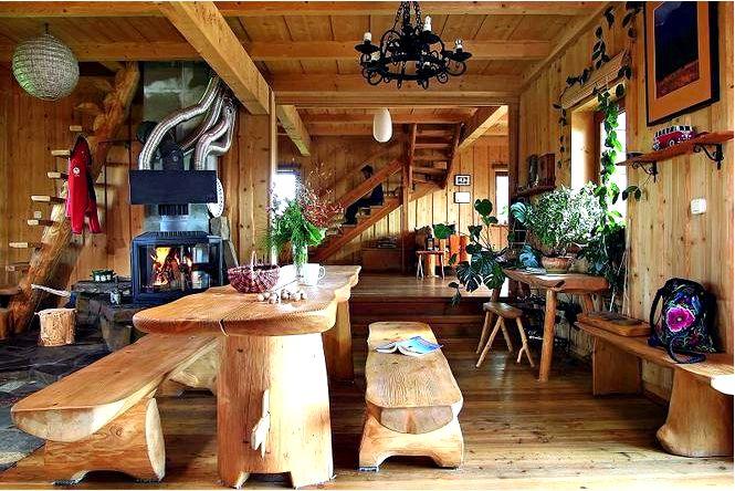 Деревянный дом в горах горные интерьеры, полные очарования