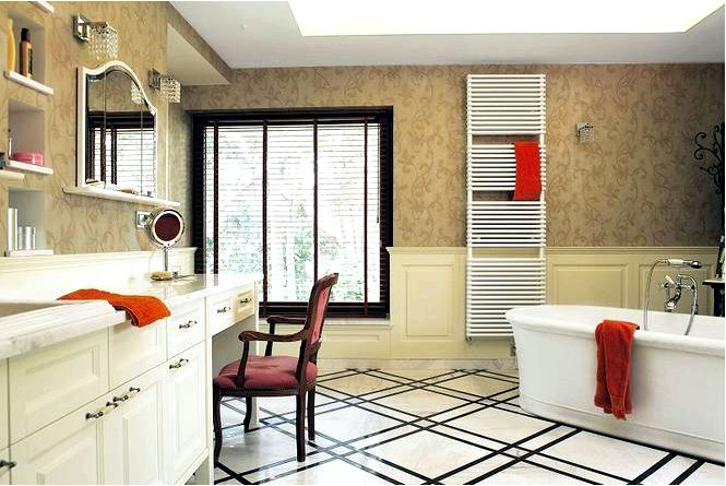 Большие ванные комнаты, как их хорошо обустроить