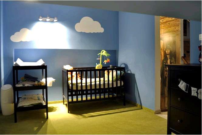Обустройство детской мансарды, комната для ребенка с игровой