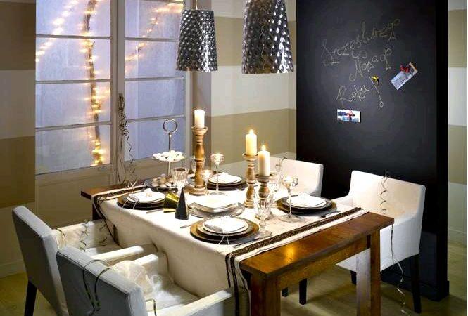 Эффектное украшение стола к новому году