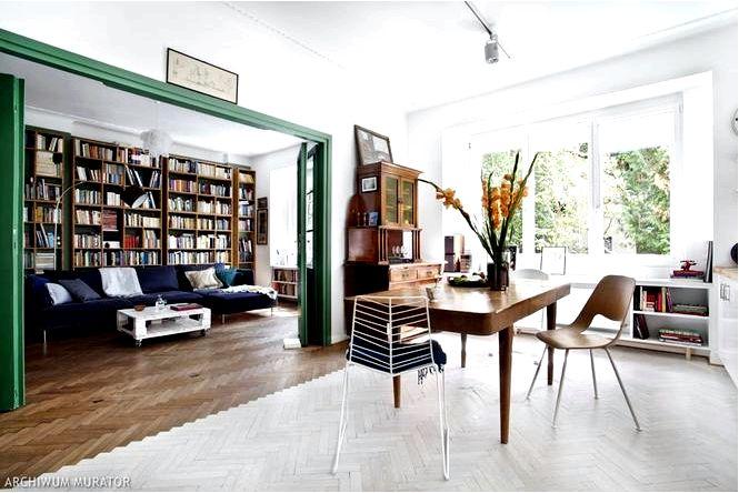 Эклектичная квартира снова в моде с элементами прошлого