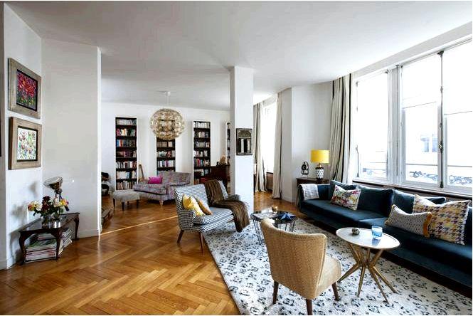Эклектичная квартира в париже, винтаж, бохо и классика