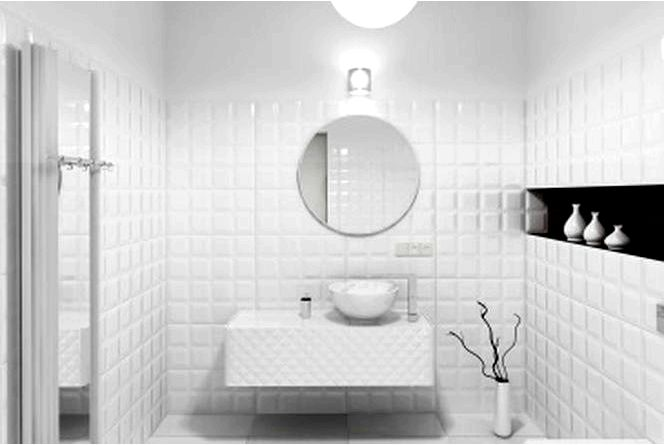 Фаза на плитке — белая плитка с фазой, которая доминирует в польских ванных комнатах и кухнях!