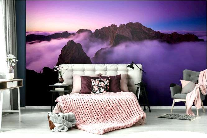 Фиолетовые стены — хорошая идея с чем сочетать фиолетовый цвет