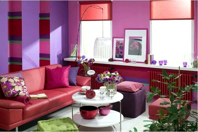 Фиолетовый салон