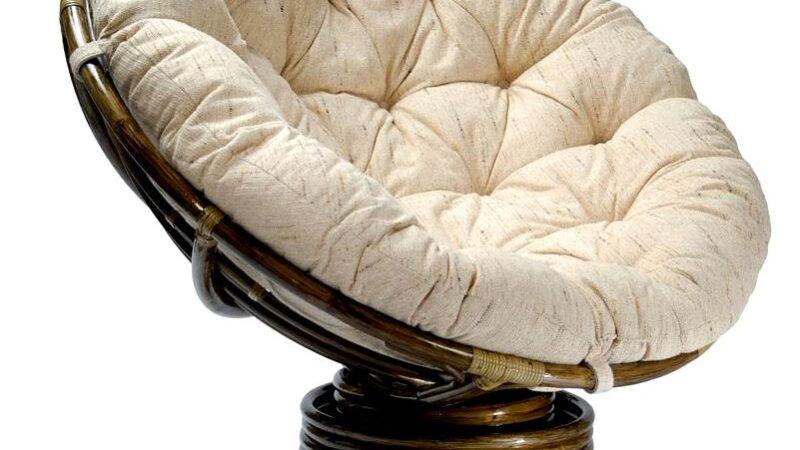 Кресло-качалка из ротанга papasan 2301b — центр мебели из ротанга