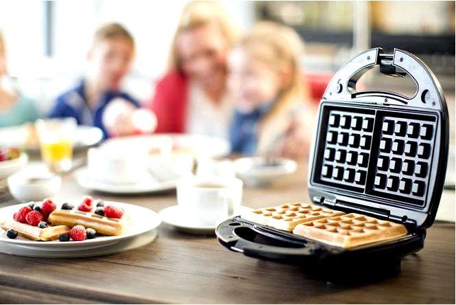 Вафельница и тостер на выбор делаем вафли из тостера