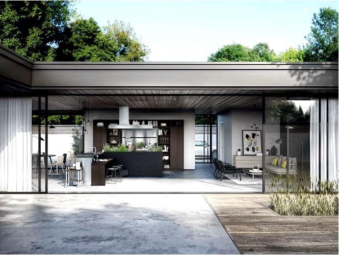Готовка на террасе — идеи для уличных кухонь и кухонь с выходом в сад