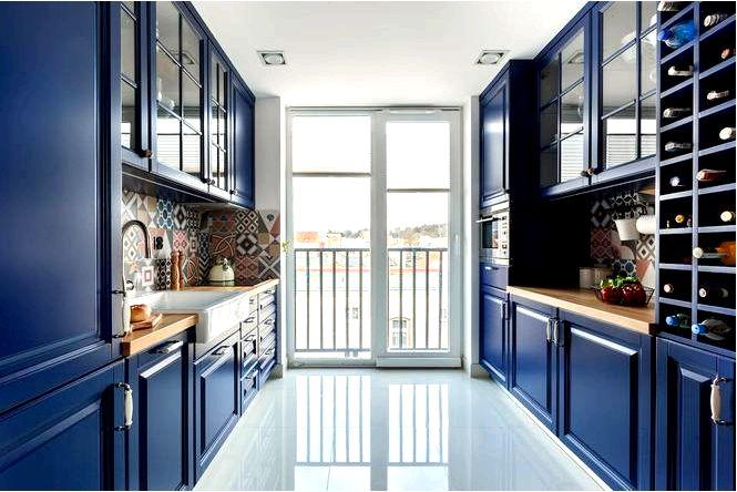 Темно-синяя кухня — как оформить композиции, советы, вдохновение