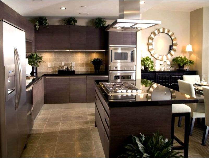 Как оформить современную гостиную, совмещенную с кухней и