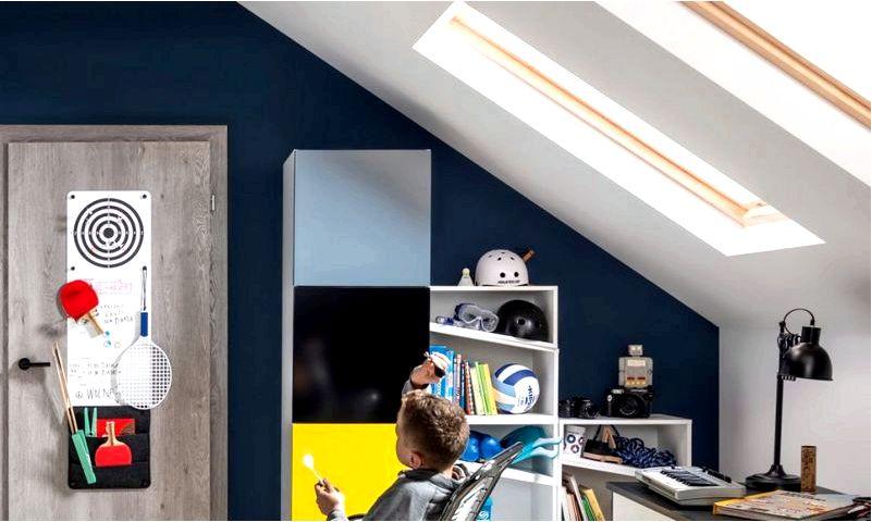 Как украсить детскую комнату в мансарде интерьером