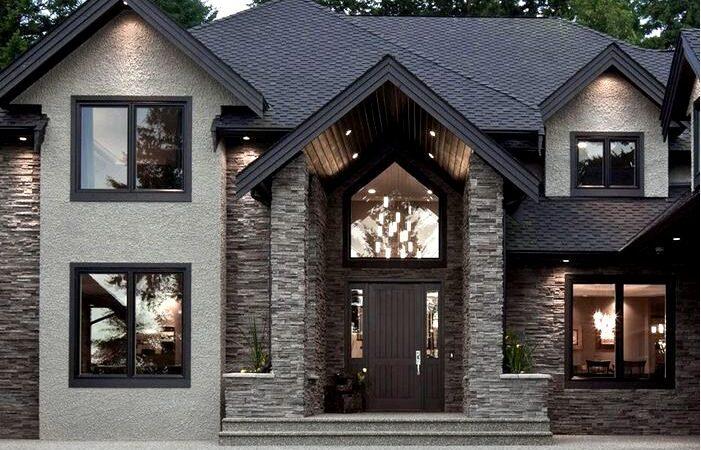 Фасадный камень — с чего начать? Идеи обустройства дома с каменным фасадом