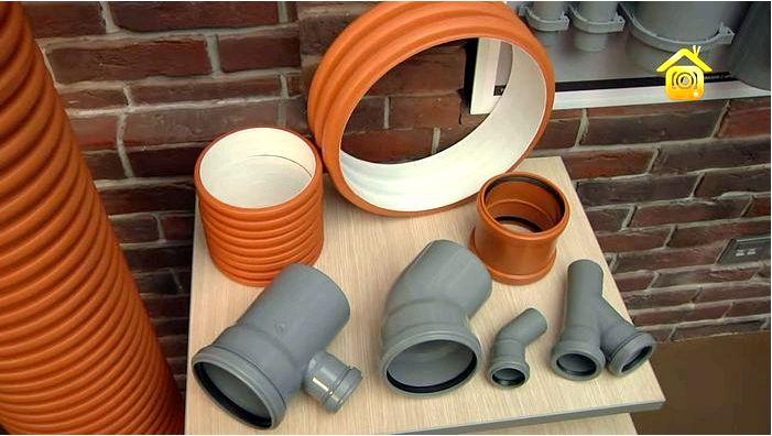 Типы труб в системе наружной канализации