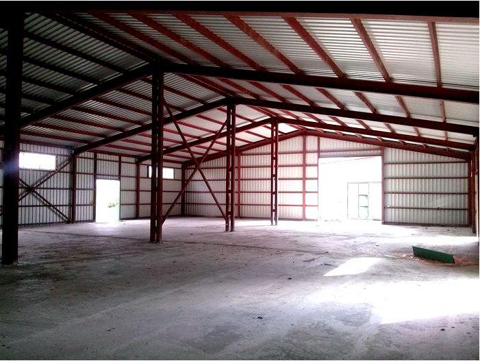 Процесс строительства склада