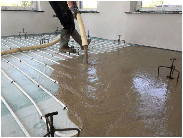 Соотношение смесей для песчано-цементной стяжки полов