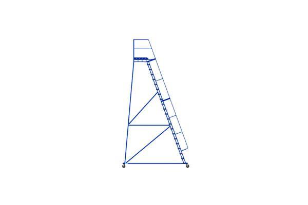 Металлическая платформенная лестница
